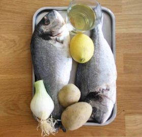 ingredientes para hacer dorada al horno