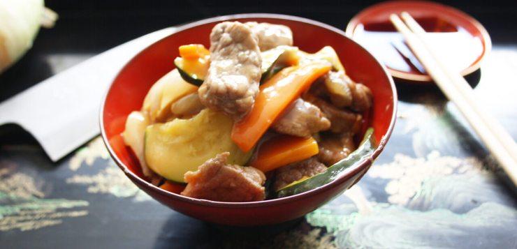 Chop suey de ternera con verduras
