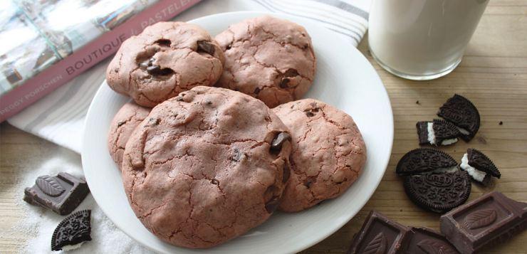 cookies de nutella y oreo red velvet