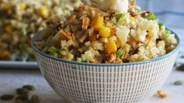 arroz de coliflor con verduras