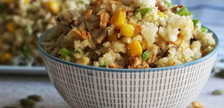 Arroz de coliflor con verduras, ¡una receta 100% natural!