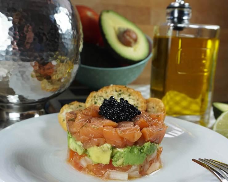 receta Tartar de salmon ahumado