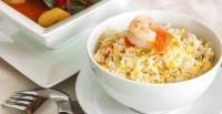 Ensalada de arroz piña y gambas