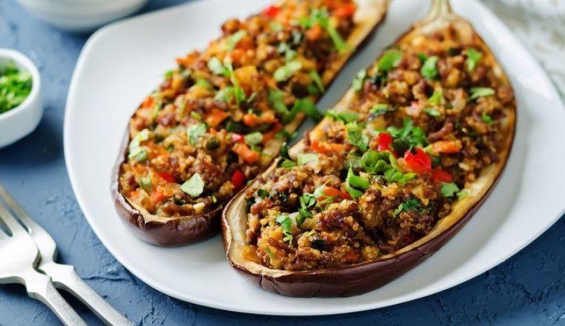 recetas berenjenas rellenas con quinoa