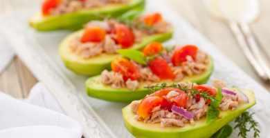 Ensalada de Atún, tomate y aguacate