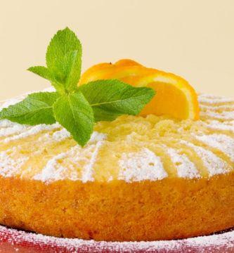Pastel de naranja con caramelo