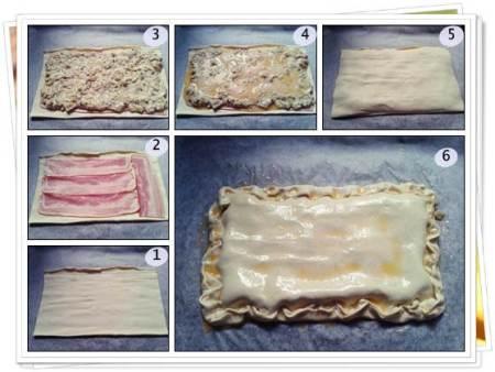 Pasos para hacer empanada carbonara