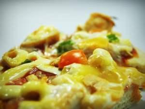 Receta casera pizza carbonara