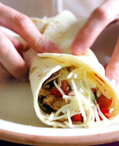 Burritos de Pollo  Recetas de Cocina Gratis  Receta