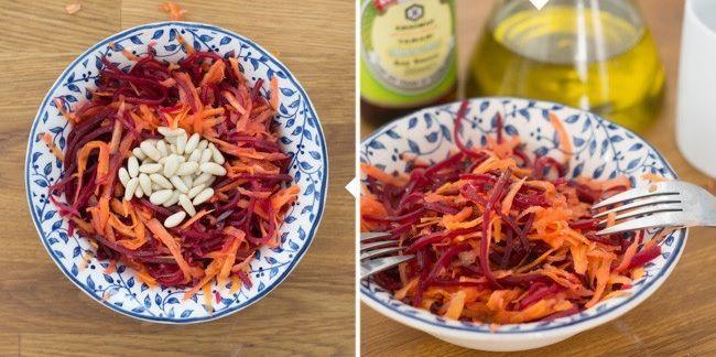 Ensalada Primaveral de Remolacha y Zanahoria Crudité