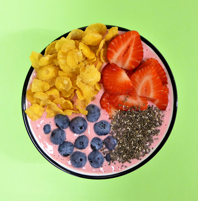 Smoothie bowl fresas receta