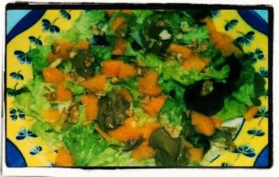 Ensalada de mango y nueces