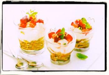 Postre tipo Cheesecake con yogurt y María Integral