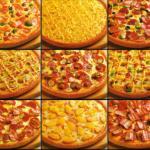 Pizza hawaiana y pizza tahitiana