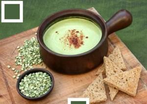 receta de sopa de chicharos verdes