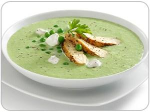 sopa de chicharos verdes