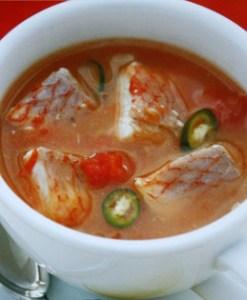 receta de sopas de cabeza de pescado