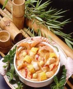 ajiaco de camarones