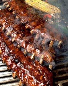 costillas de cerdo en barbacoa