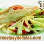 Receta de filete de pescado relleno de mariscos