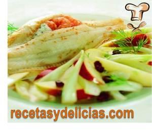 receta filete de pescado relleno de mariscos