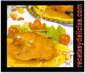 receta de pollo en naranja de china