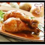 Receta de Pollo en salchichas y jamón