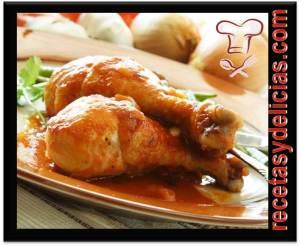 receta de pollo en salchicha y jamon
