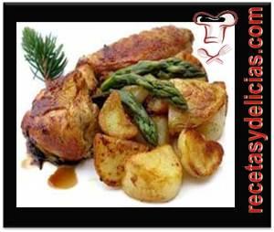 Receta de pollo fricase
