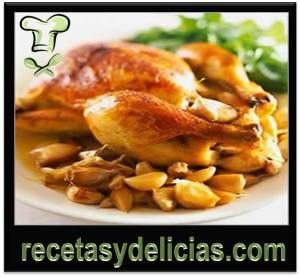 receta de pollo en ajo