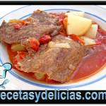 Receta de Carne adobada con papas