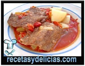carne adobada con papas