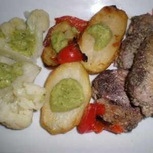 91650abe72b74891ce17dffa3726f716 - ▷ Lomos de atún con papas y coliflor con salsa de pepino 🐠 🥔
