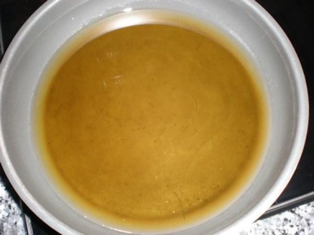 Calentar aceite de oliva virgen extra