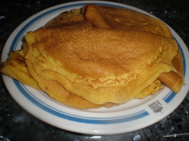 Tortitas de rebozado de claras montadas