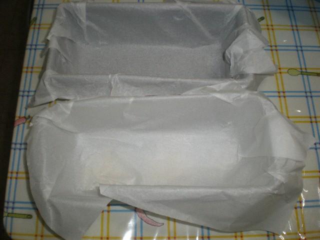 Moldes con papel de hornear