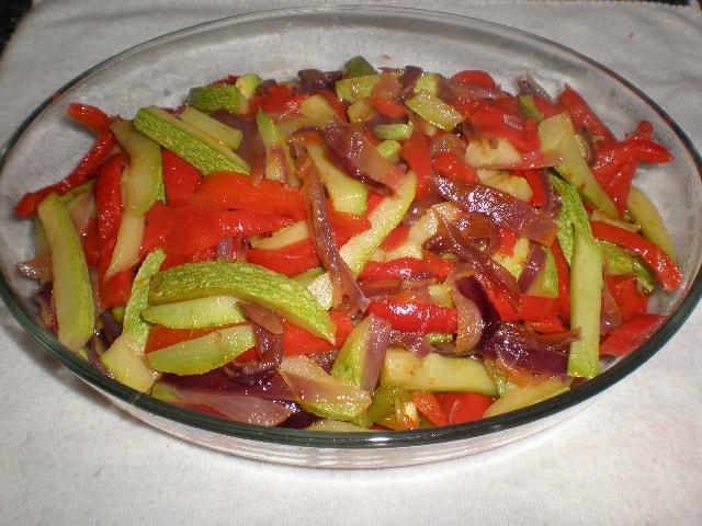 Verdura al dente con pimienta
