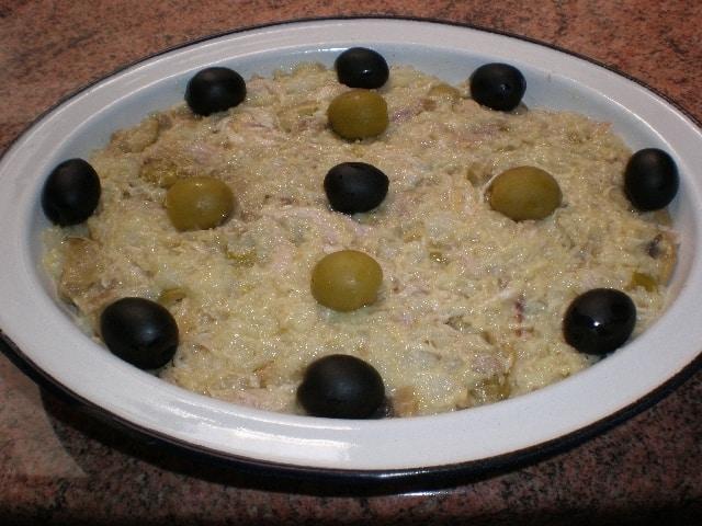 ▷ Ensaladilla de pollo y olivas 🥔 🐓