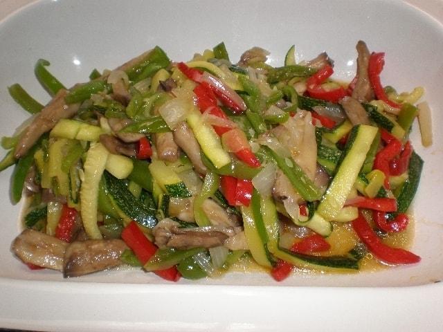 Salteado cinco verduras