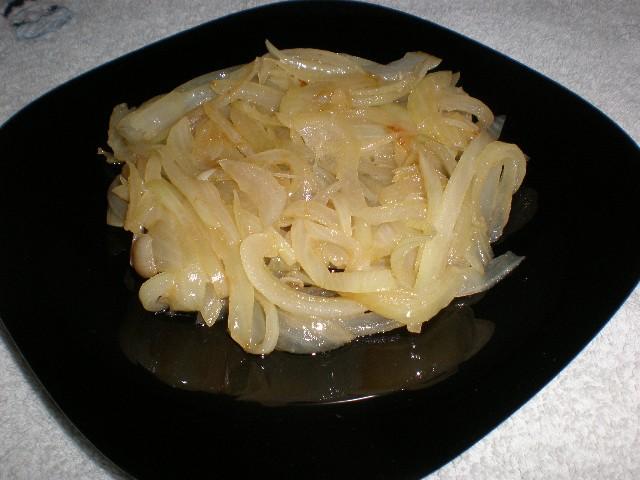 Cama de cebolla frita