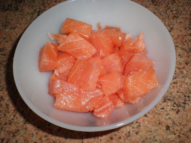 Daditos de salmón