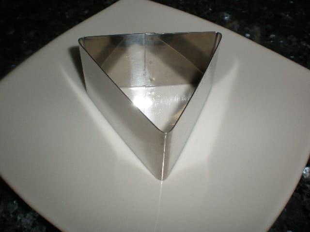 Molde de triángulo para emplatar