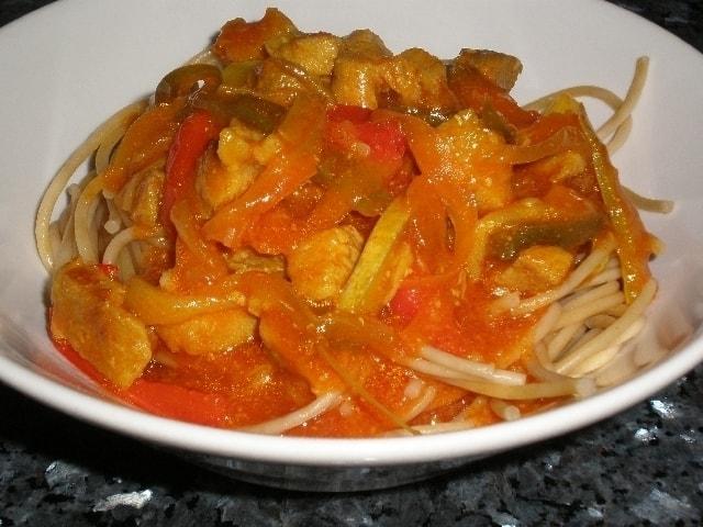 ▷ Espaguetis con Salsa bondiola 🍝