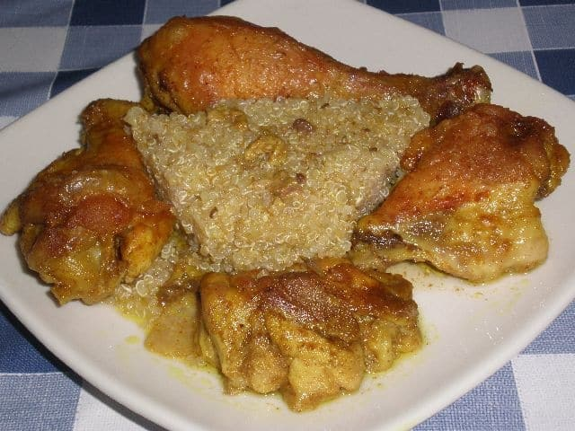 ▷ Pollo con curry al horno 🍗
