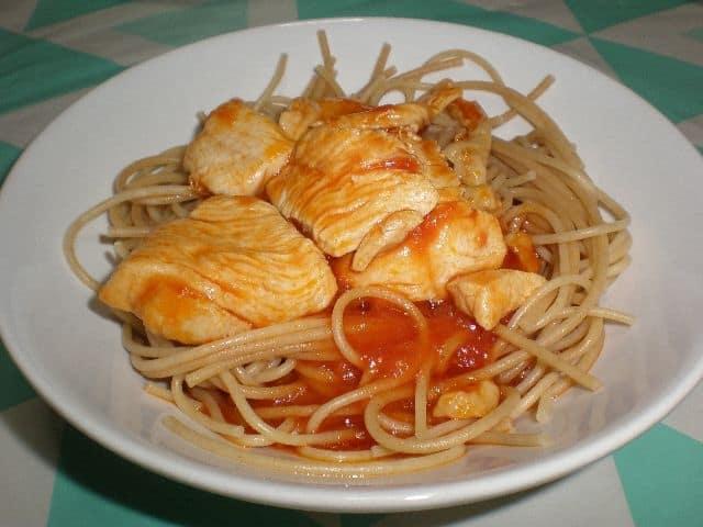 f04a53d77afbc87d7495823d610ad112 - ▷ Espaguetis con Pollo con tomate 🍝