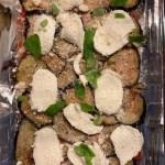 Tranches d'aubergines à la parmesane et mozzarella