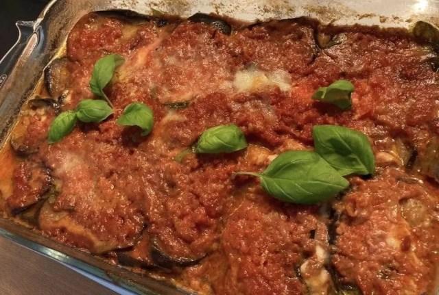Aubergines parmesane siciliennes