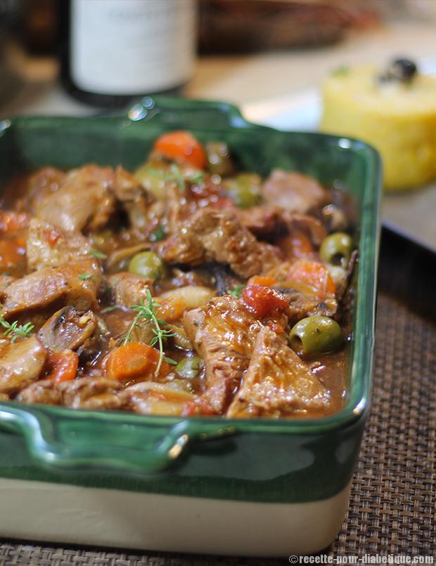 Recette sauté de veau aux olives par SPAR de Corse - YouTube