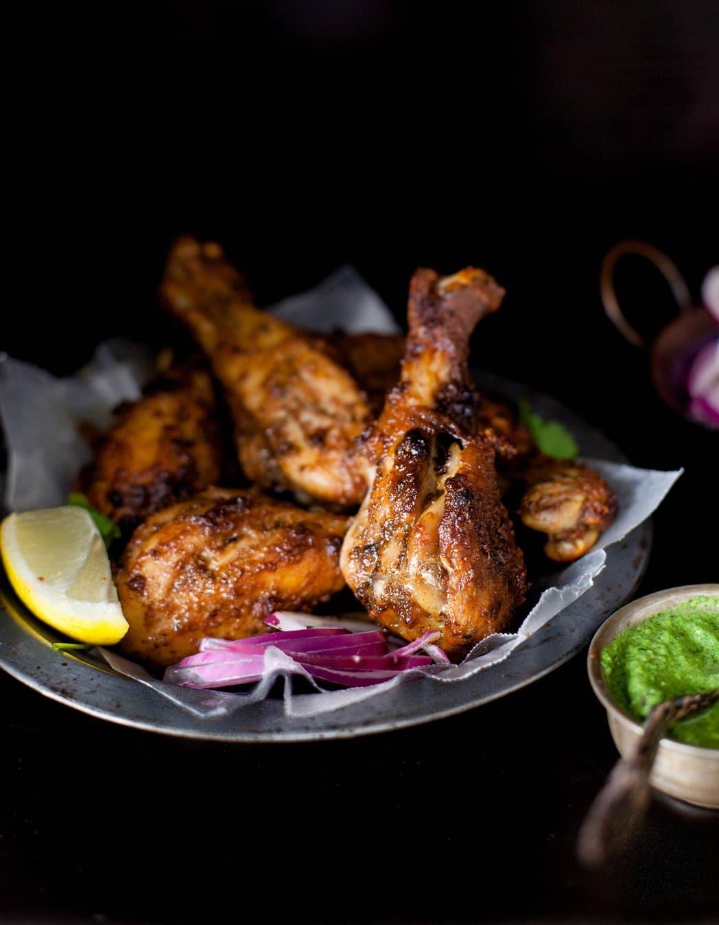 Recette de poulet tandoori et sa sauce à la menthe