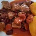 Mijoté de veau aux poireaux et au boursin